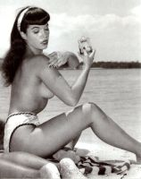 Betty Page by peterpulp