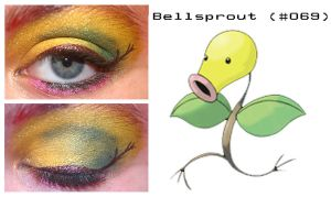 Pokemakeup 069 Bellsprout by nazzara
