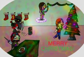 Christmas Party Fun by Aura-Cat
