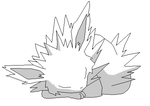 Let sleeping Jolteon lie Base by ShadowWolfBases