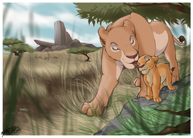 Mum and Cub by BlossomPPG