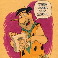 Fred Flintstone, traditional animator by tombancroft