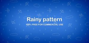 Umbrellas and clouds pattern (PNG) by DuckFiles