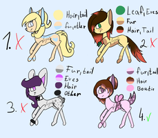 Adoptables - OPEN by Lopoicz