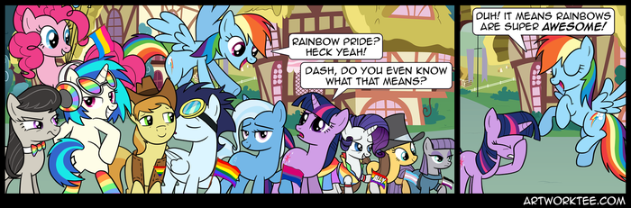 Comic: Rainbow's Pride by artwork-tee