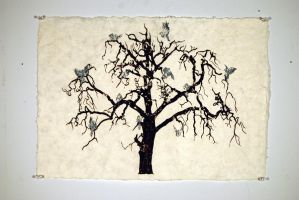 Silkscreened Tree by unknown-nobody
