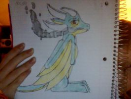 I drew a SWEEET dragon as a request for my cousin by accailia118