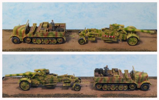 Sd.Kfz.9 FAMO and 21 CM Morser 18 by Low688
