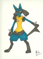 lucario by Sasuke-fan