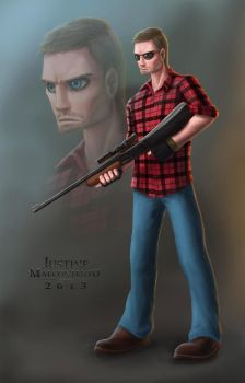 Commission: Zombie Hunter (Coloring) by Jujusaurus
