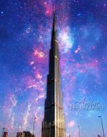 Galaxy of Burj Khalifa by amirajuli