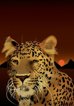 Vector leopard portrait by Ernest62