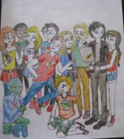 League of Justice (in colors) by LyceeauxsecretsNarut