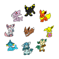 Eeveelutions by VulpineKeyblader