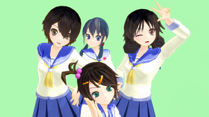 [MMD] Corpse Party Girls DL by WankoSan