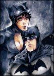 Catwoman and Batman aceo by XMenouX
