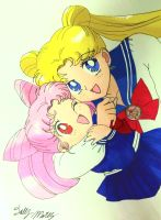 Usagi And Chibiusa by Dolly-M00N