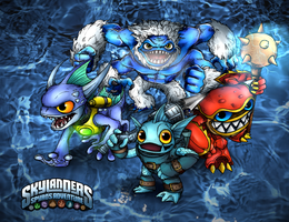 Water Skylanders- COLORED by PPGxRRB-FAN
