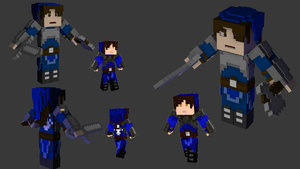 My minecraft skin 3D by ostidetbk