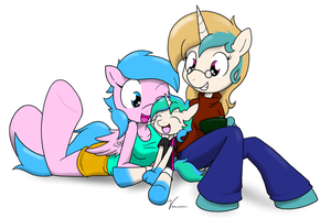 a happy family by Sandwich-Anomaly