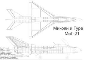 MiG-21 Blueprints by trainguy101