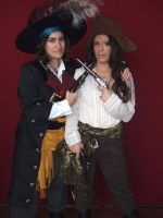 Barbossa and Anamaria by SuperCosplay