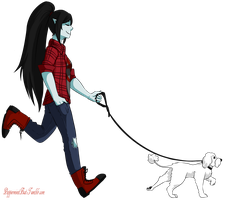 Marceline and Schwabl by PeppermintBat