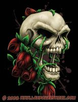 Skull and Roses by LandonLArmstrong