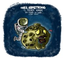 Neil Armstrong by gaton-comix