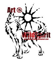 Proud Sun Wolf Splatter Tattoo by WildSpiritWolf