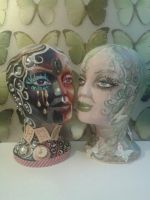 hand painted mannequin heads by cruellendejagger