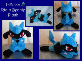 Riolu Beanie Plush by methuselah-alchemist