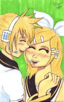 Rin and Len again by Pabbie