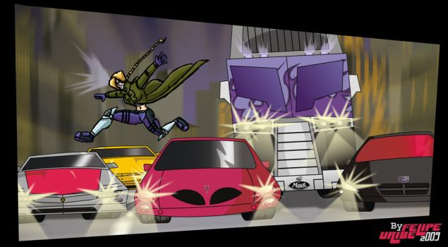 10th Muse vs The Stunticons by MannWulf