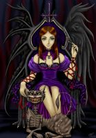 Mistress Alice and her Pet Cat by caleyndar