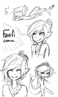 Faeifi Sketches by aerolu