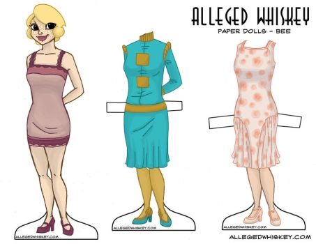 bee paper doll by secondglance