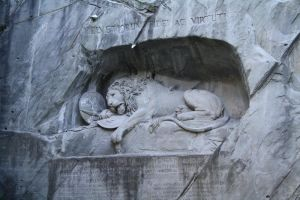 Lion (pig) Carving by FreeakStock