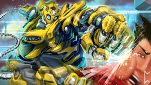 Bumblebee Blitzcrank skin [League of Legends] by Gevurah-Studios