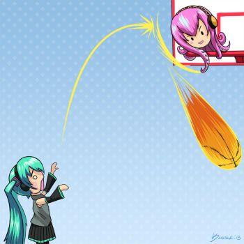 Hachune Miku rejected by Tako Luka by kuoke