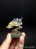 Wire bonsai tree by Ken To with deadwood by KenToArt