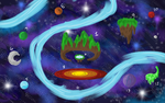 Map Draft of the Galaxy Universe by FlickeringFilms