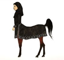 Egyptian Arabian Centaur by MommaCabbit