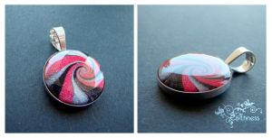 Polyclay-resin-silver pendant by caithness-shop