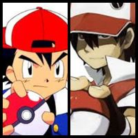 Ash Ketchum VS Pokemon trainer red (rojo) by Cccelpro