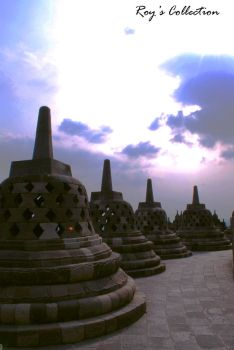 Borobudur and The Deep Purple by RoyWicaksono