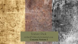 Concrete Notions Texture Pack I by redwolf518stock