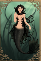 Gothic Mermaid by SelenaMoonMistress