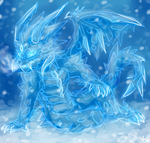 Ice winter dragon by onigiryStuff