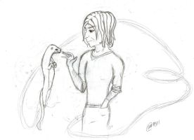Severus and the Otter WIP by AangAddict